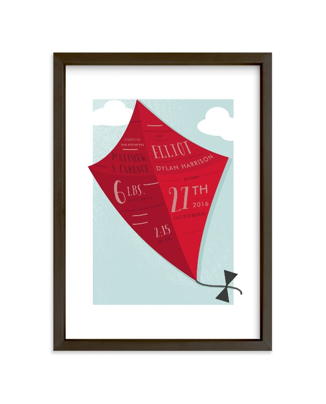 """""""Little Kite"""" - Children's Custom Art Print by Oma N. Ramkhelawan in beautiful frame options and a variety of sizes."""