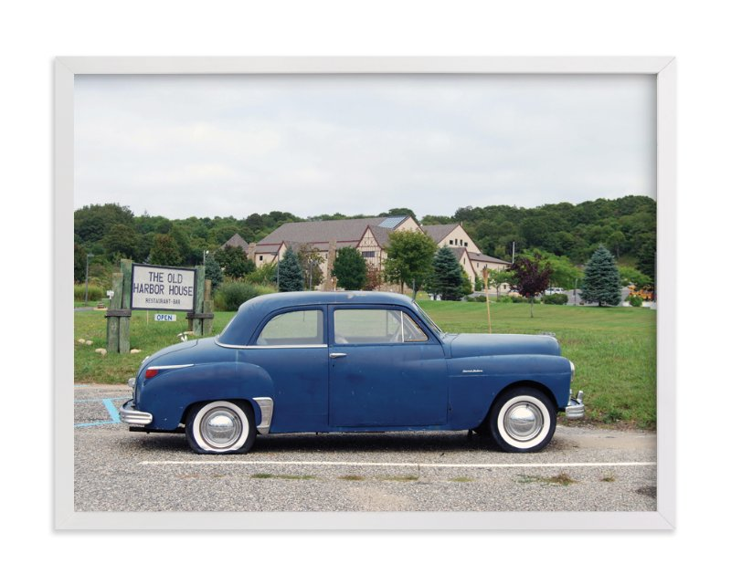 """Montauk Car"" - Art Print by Nora Gomez-Strauss in beautiful frame options and a variety of sizes."