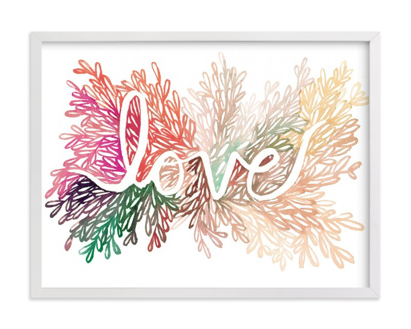 """Love"" - Art Print by Kelly Ventura in beautiful frame options and a variety of sizes."