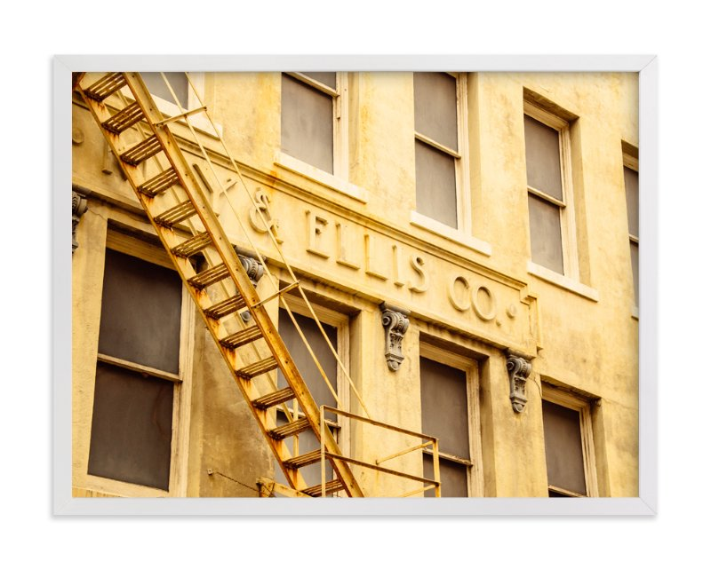 """Yellow Building"" - Art Print by Kamala Nahas in beautiful frame options and a variety of sizes."