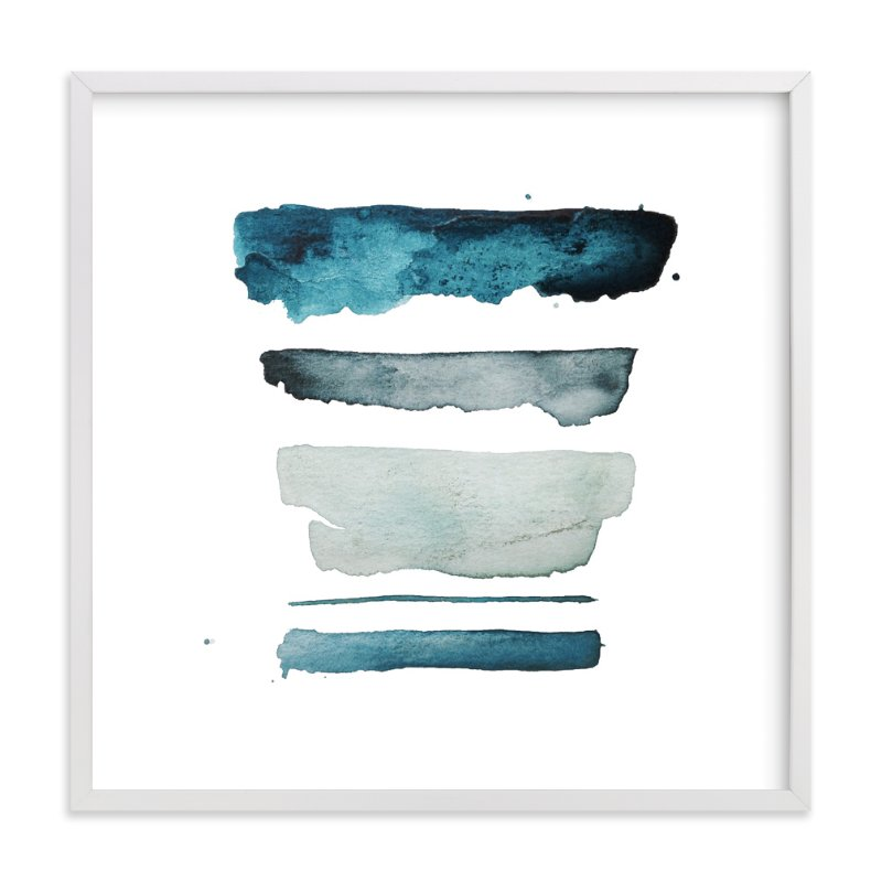 """""""of land and sea - deep"""" - Limited Edition Art Print by Kiana Mosley in beautiful frame options and a variety of sizes."""