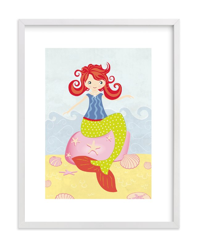 """""""Mermaid"""" - Art Print by Stellax Creative in beautiful frame options and a variety of sizes."""