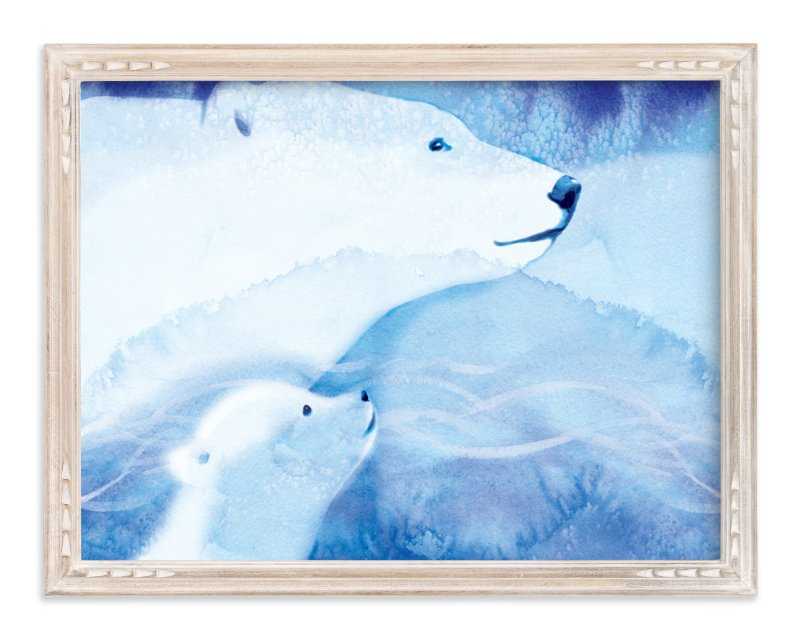 """""""Drifting Snow"""" - Art Print by Tracy Ann in beautiful frame options and a variety of sizes."""