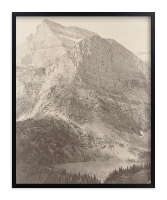 """Glacier National Park"" - Art Print by Paper and Parcel in beautiful frame options and a variety of sizes."