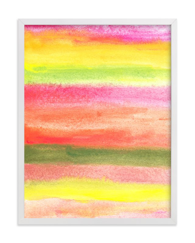 """painted abstract stripes"" - Art Print by aticnomar in beautiful frame options and a variety of sizes."