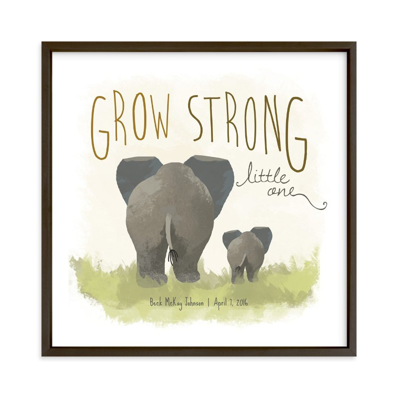 """Elephant Bums"" - Nursery Custom Art Print by Rio Grange in beautiful frame options and a variety of sizes."
