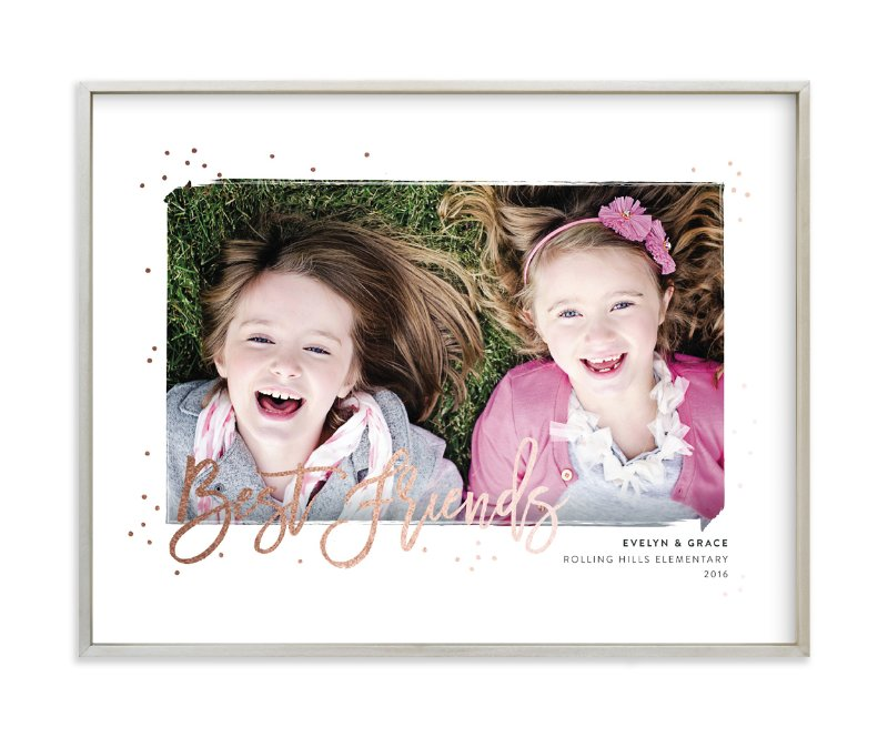 """Best of Friends"" - Foil Pressed Photo Art Print by Shirley Lin Schneider in beautiful frame options and a variety of sizes."