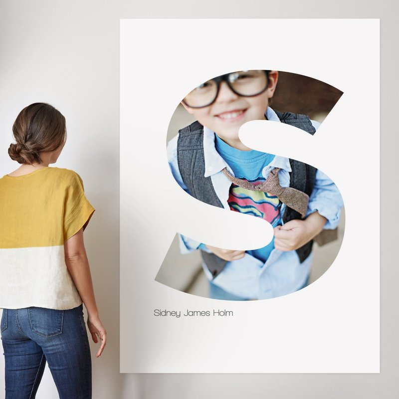 """""""S - Within Letters of You"""" - Children's Custom Photo Art Print by Heather Francisco in beautiful frame options and a variety of sizes."""