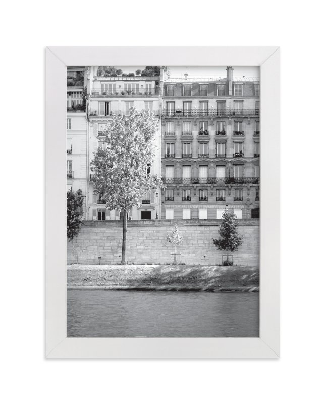 """""""Morning Walk on the Seine"""" - Art Print by Sharon Rowan in beautiful frame options and a variety of sizes."""