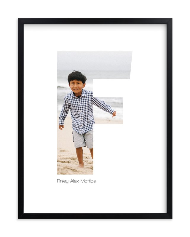 """F - Within Letters of You"" - Children's Custom Photo Art Print by Heather Francisco in beautiful frame options and a variety of sizes."