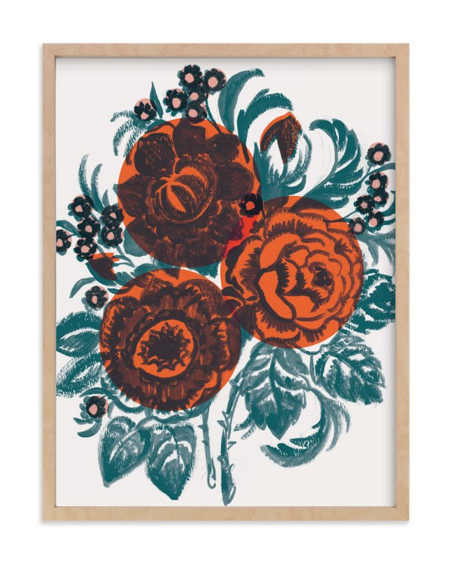 """Dora's Floral"" - Art Print by Jill De Haan in beautiful frame options and a variety of sizes."