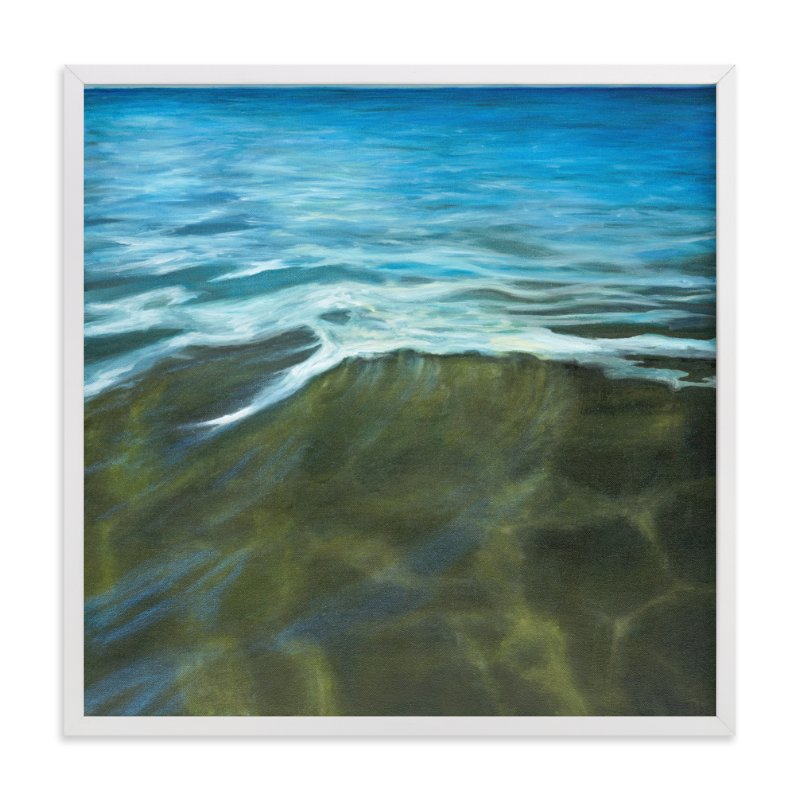 """""""Waters Edge"""" - Art Print by Becky Kisabeth Gibbs in beautiful frame options and a variety of sizes."""