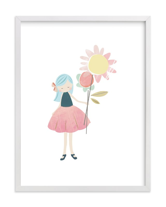 """""""flower girl"""" - Art Print by peetie design in beautiful frame options and a variety of sizes."""