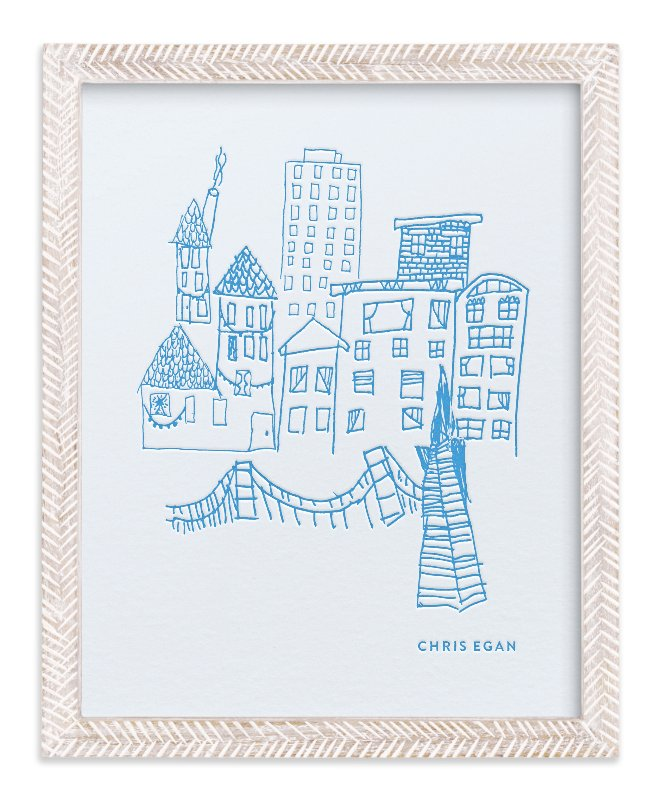 """Your Drawing as Letterpress Art Print"" - Drawn Letterpress Art by Minted Custom in beautiful frame options and a variety of sizes."