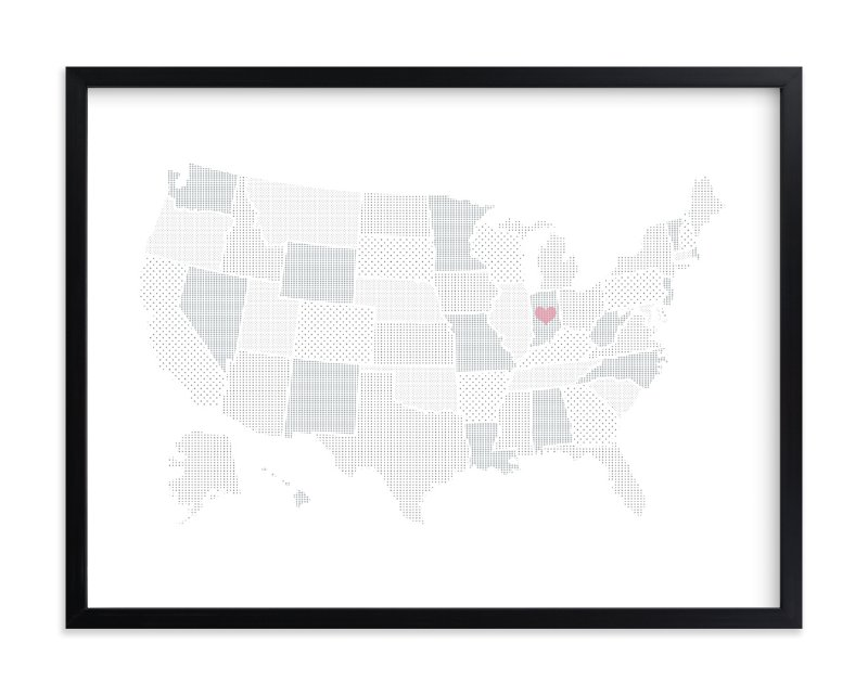 """Polka Dotted States of America"" by Jessie Steury in beautiful frame options and a variety of sizes."