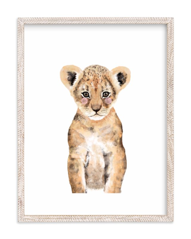 Baby Animal Lion Wall Art Prints By Cass Loh | Minted