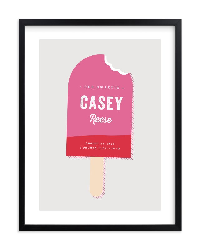 """""""Sweetie"""" - Nursery Custom Art Print by Stacey Meacham in beautiful frame options and a variety of sizes."""