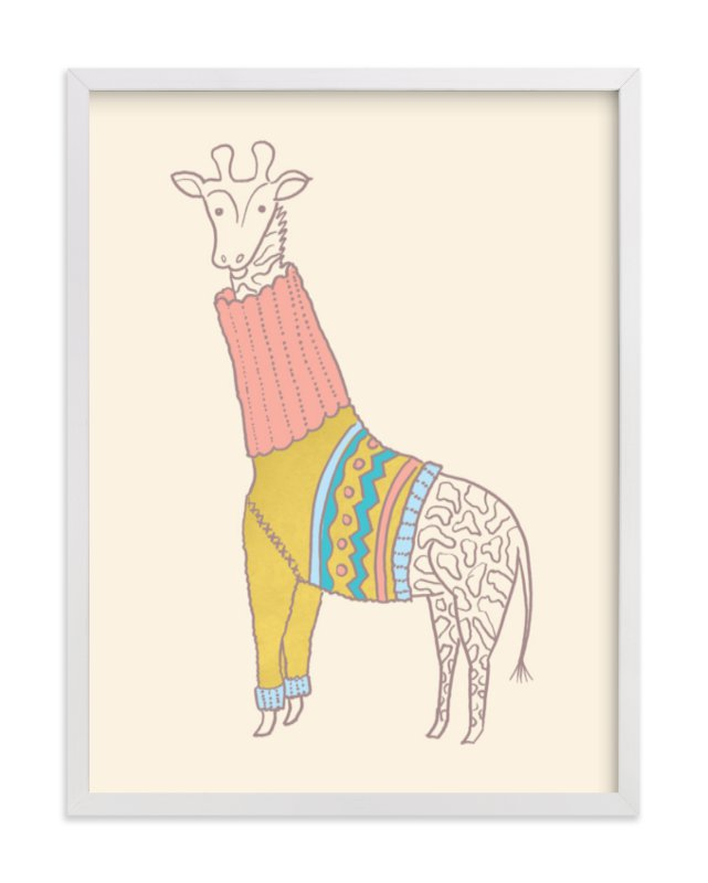 """""""Fiesta Turtleneck"""" - Art Print by Moglea in beautiful frame options and a variety of sizes."""