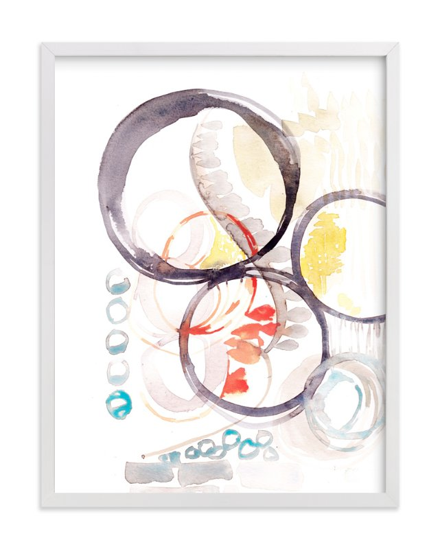 """Abstract No 1"" - Art Print by Kelly Ventura in beautiful frame options and a variety of sizes."