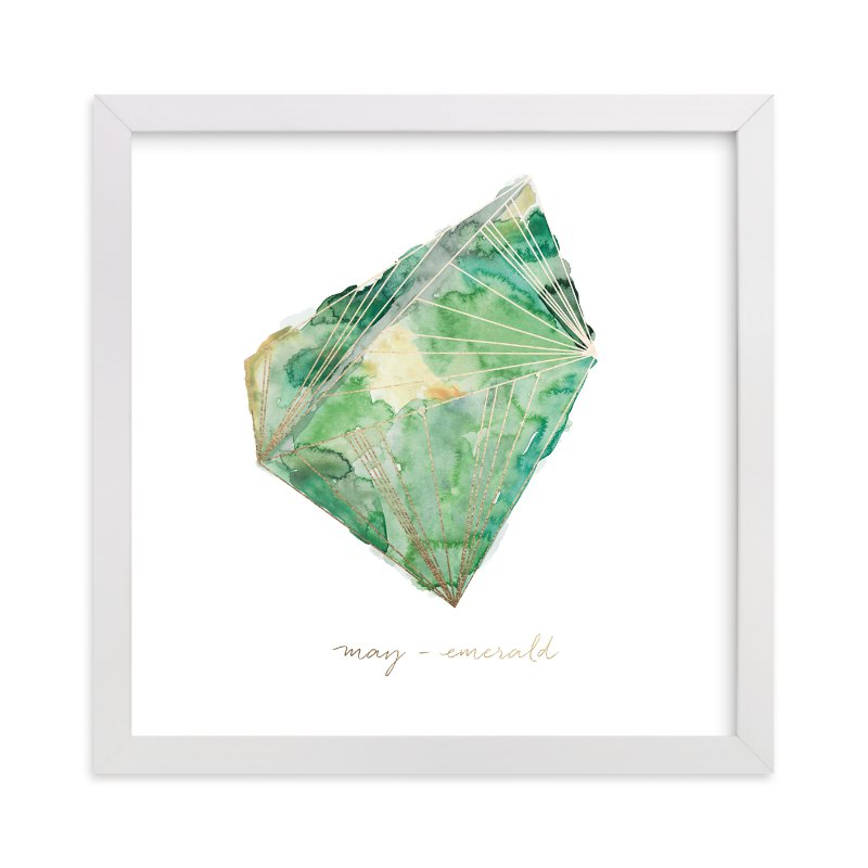 """""""May - Emerald"""" - Foil-pressed Art Print by Naomi Ernest in beautiful frame options and a variety of sizes."""
