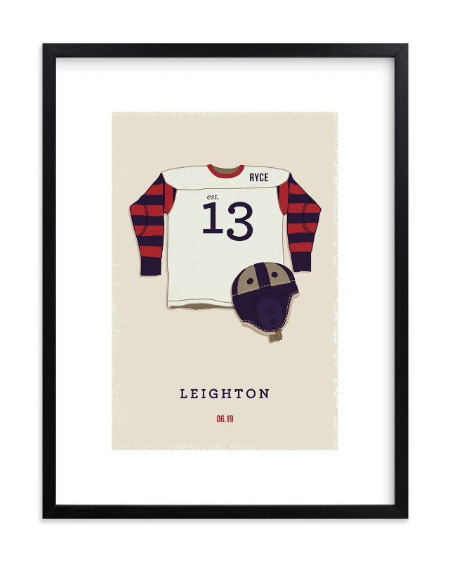 """American Football"" - Children's Custom Art Print by Tyler Tea in beautiful frame options and a variety of sizes."