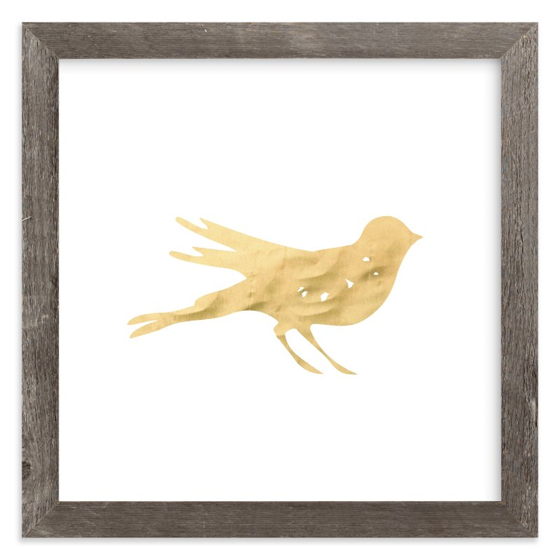 """Here Birdie Birdie"" - Art Print by hey paper moon in beautiful frame options and a variety of sizes."