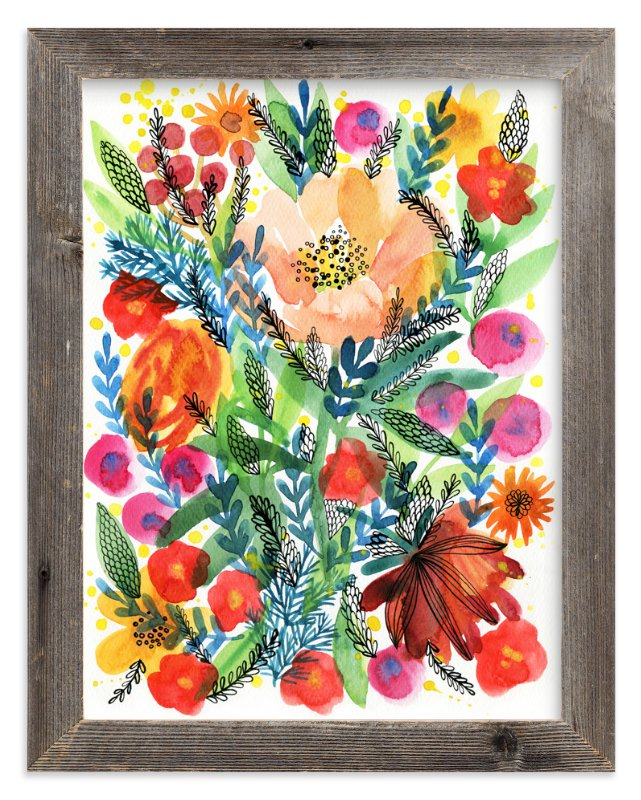"""Summer bloom"" - Limited Edition Art Print by Alexandra Dzh in beautiful frame options and a variety of sizes."