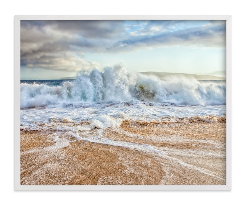 """Chaos in the Waves"" - Art Print by Mary Ann Glynn-Tusa in beautiful frame options and a variety of sizes."