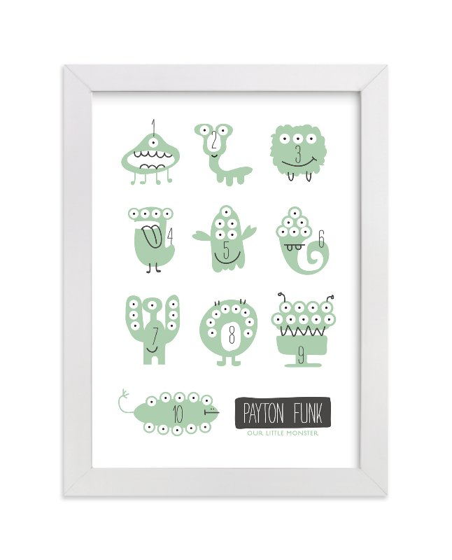 Monster Math Custom Art Prints by Carrie ONeal | Minted