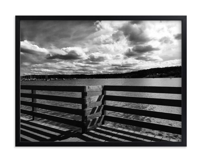 """""""Boardwalk Shadow"""" - Limited Edition Art Print by Leah Lenz in beautiful frame options and a variety of sizes."""