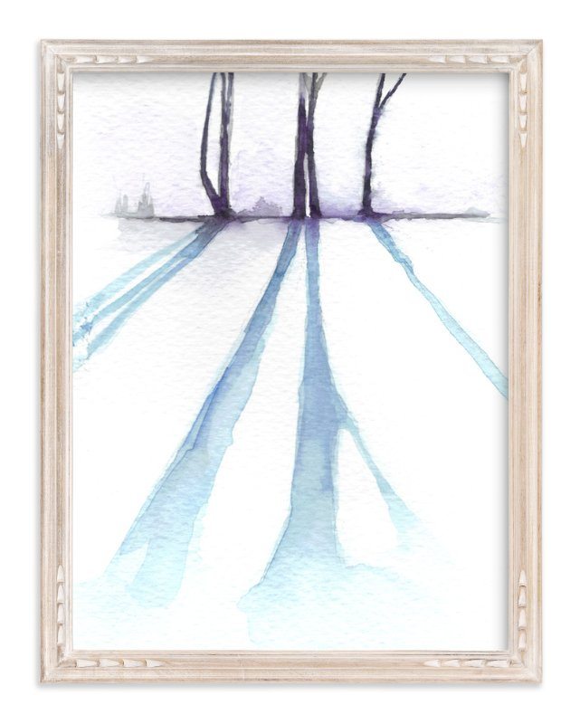 """""""Winter Shadow"""" - Art Print by Sonal Nathwani in beautiful frame options and a variety of sizes."""