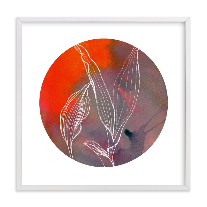 """Circular Lily"" - Art Print by Lauren Matsumoto in beautiful frame options and a variety of sizes."