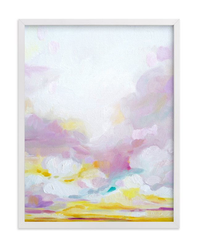 """""""Prettier in Pink"""" - Art Print by Emily Jeffords in beautiful frame options and a variety of sizes."""