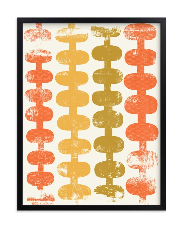 """""""Modern Squiggles"""" - Art Print by Anne Crosse in beautiful frame options and a variety of sizes."""