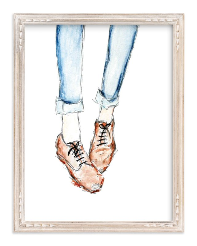 """""""Vintage Brogues"""" - Art Print by Whitney Todd in beautiful frame options and a variety of sizes."""