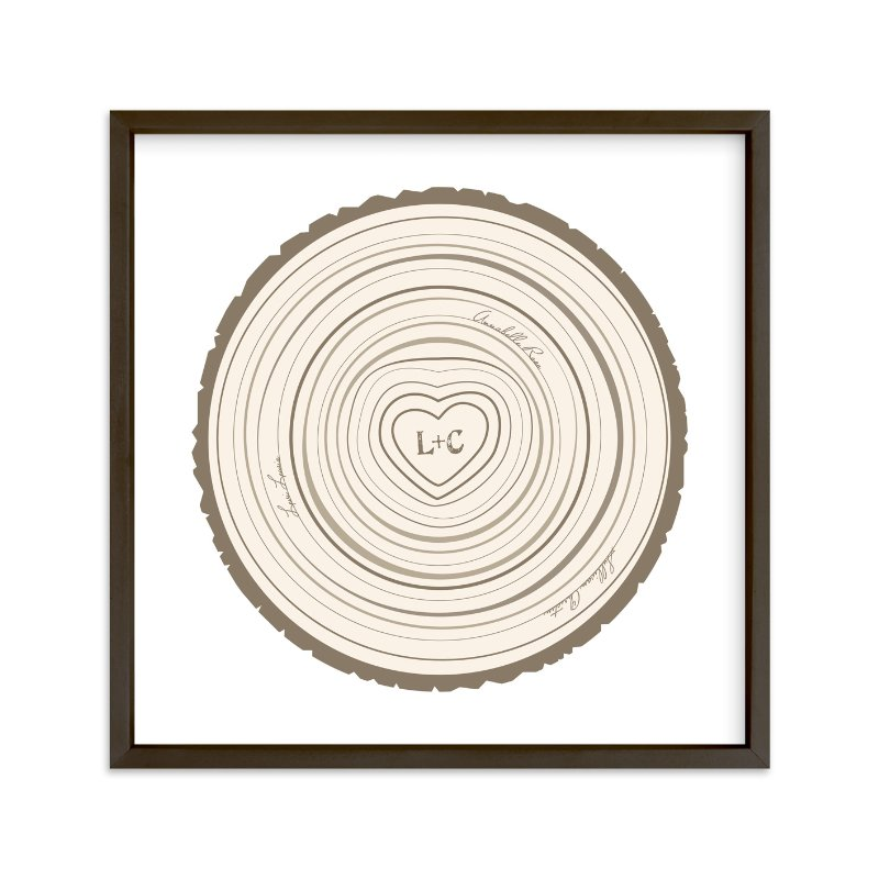 """""""Family Tree Rings"""" - Nursery Custom Art Print by Jessie Steury in beautiful frame options and a variety of sizes."""