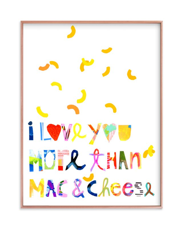 """I love mac&cheese"" - Art Print by Suzanne Blanck in beautiful frame options and a variety of sizes."