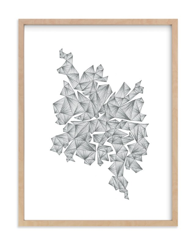 """""""clustering shards"""" - Art Print by Naomi Ernest in beautiful frame options and a variety of sizes."""