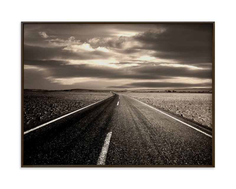 """The Spirit Of The Open Road"" - Art Print by Jerusha in beautiful frame options and a variety of sizes."