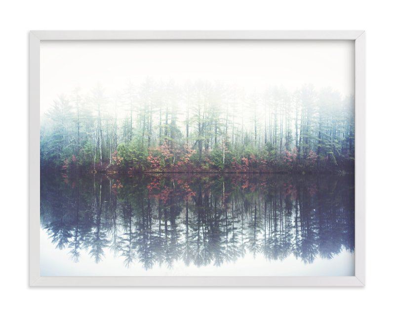 """Reflecting Amongst The Fog And Light"" - Art Print by Smile Peace Love in beautiful frame options and a variety of sizes."