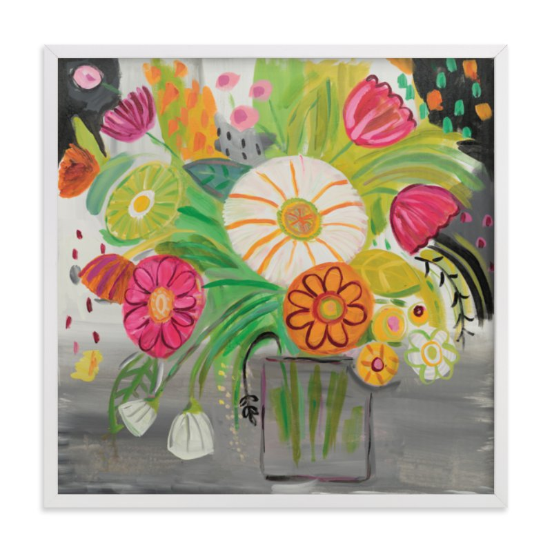 """Matisse Florals"" - Art Print by FARIDA ZAMAN in beautiful frame options and a variety of sizes."