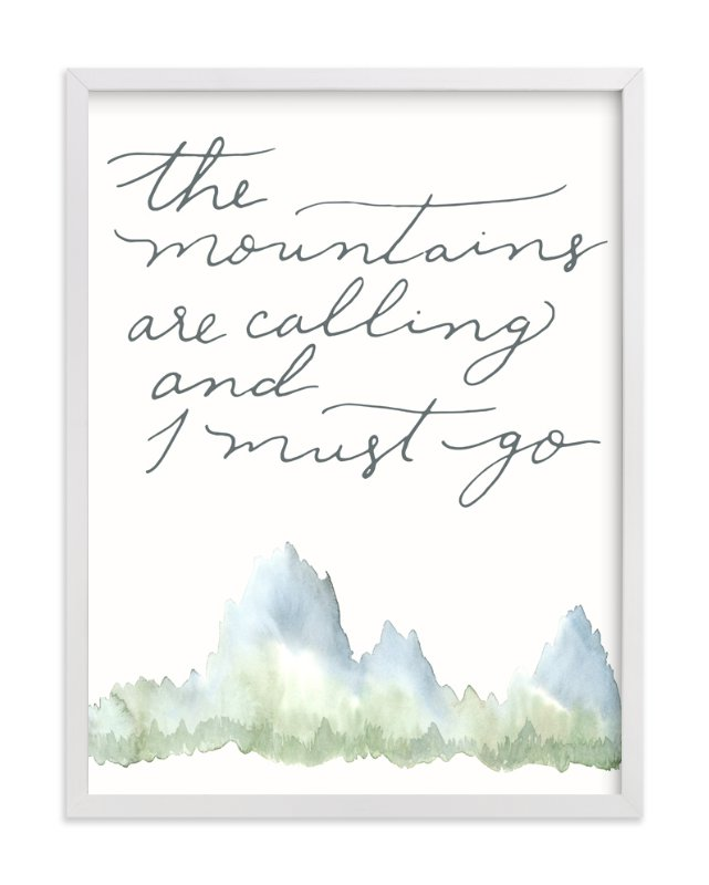 """Mountains"" - Art Print by Sweetgrass Paper Company in beautiful frame options and a variety of sizes."