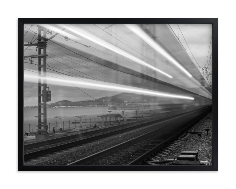 """Sochi Express"" - Art Print by Mark Kirby in beautiful frame options and a variety of sizes."
