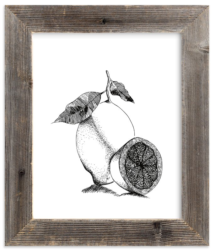 """""""Lemonade"""" - Limited Edition Art Print by Leah Bisch in beautiful frame options and a variety of sizes."""