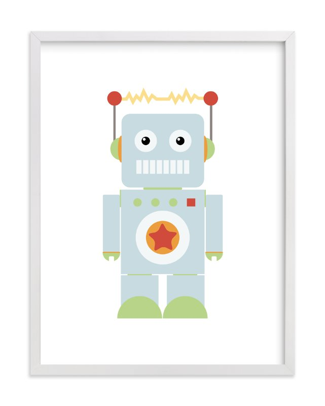 """Starbot"" - Art Print by Dawn Jasper in beautiful frame options and a variety of sizes."