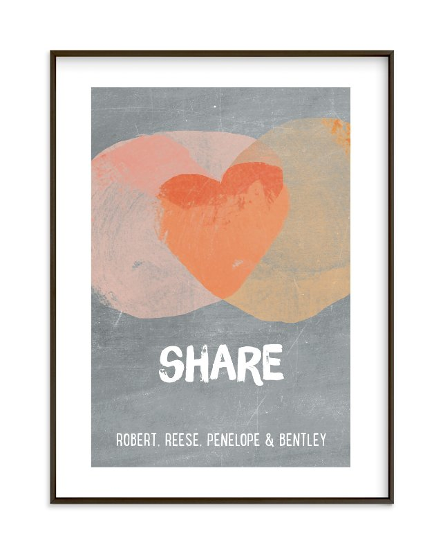"""""""Kindness Venn"""" - Children's Custom Art Print by pandercraft in beautiful frame options and a variety of sizes."""
