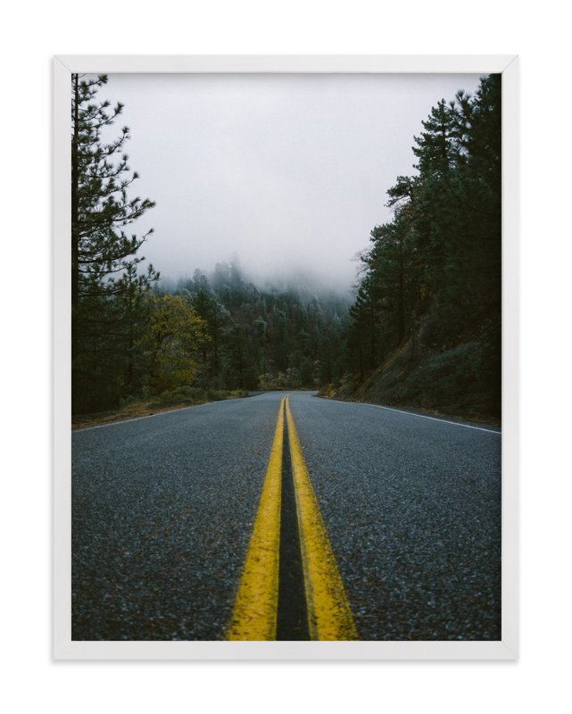 """""""Road In The Clouds"""" - Art Print by Christian Florin in beautiful frame options and a variety of sizes."""