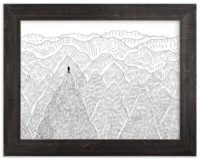 """""""Summit"""" - Art Print by Helen H Wu in beautiful frame options and a variety of sizes."""