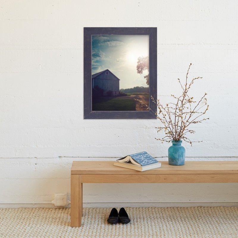 """""""Blue Barn"""" - Art Print by Smile Peace Love in beautiful frame options and a variety of sizes."""
