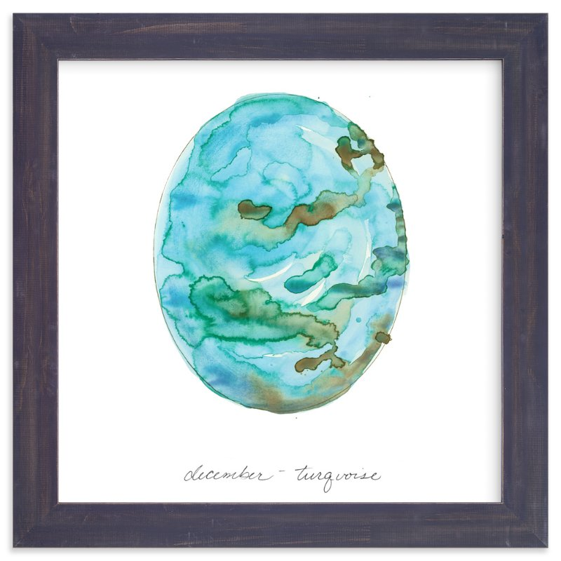 """""""December - Turquoise"""" - Art Print by Naomi Ernest in beautiful frame options and a variety of sizes."""